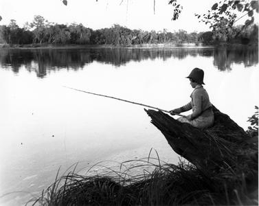 Estella Leopold fishing