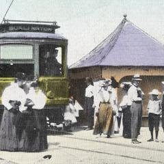 The Waterford depot of the T. M. E. R. and L (The Milwaukee Electric Railway and Light Company)
