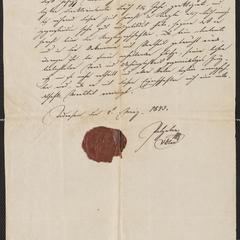 [Reference letter for Joseph Sternberger, March 4, 1843]