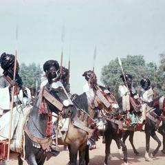 Emir's Guards in Procession in Big Sallah Celebration in Katsina