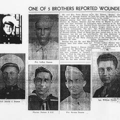 One of 5 brothers reported wounded