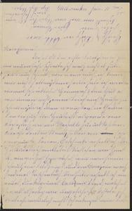 [Letter from Hannah Sternberger to her parents, Jakob and Franziska Sternberger, January 10, 1885]