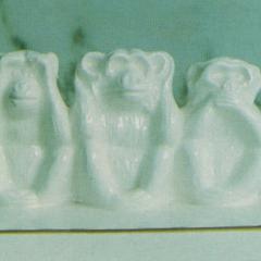 Ceramic Chimpanzees