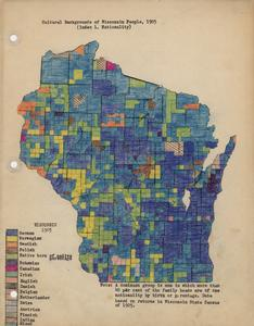 Cultural backgrounds of Wisconsin people map