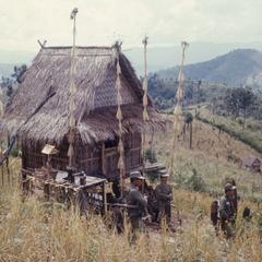 Ethnic Khmu' harvesting rice