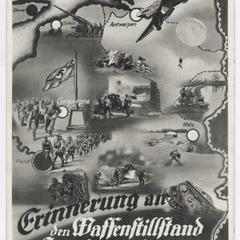 Erinnerung an den Waffenstillstand in Compiègne 25. Juni 1940 un 1.25 Uhr