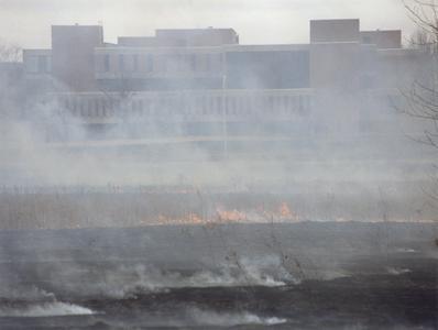 Prairie burn at UW-Parkside