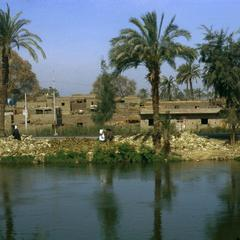 Village by the Nile River in Upper Egypt