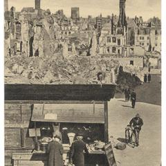 [Nürnberg's Parteiplatz in ruins after the war]