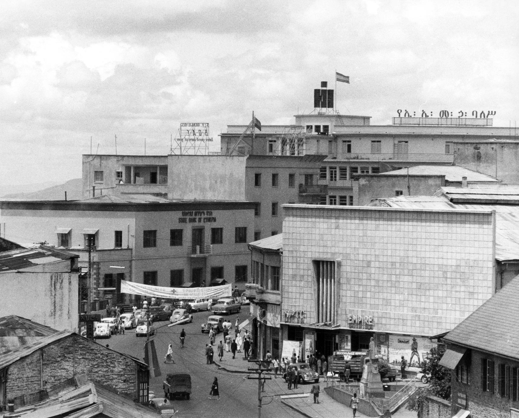 Empire Movie Theater and Shops in Downtown Addis Ababa, 1958-60