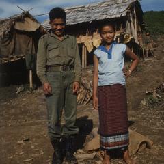Ethnic Khmu' young man and girl