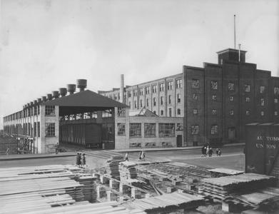 Railroad building at Hamilton Manufacturing Company