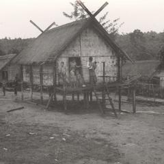 Two houses in the Nyaheun village of Nam Nga Teung in Attapu Province