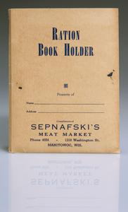 Ration book holder and contents