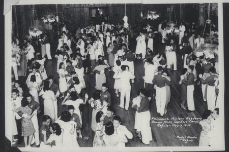 Cadets and women dancing at the Senior Mess, Philippine Military Academy