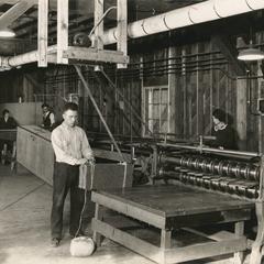 Workers at Menasha Wooden Ware Company