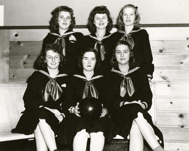 """Navy Stripes"" bowling team"