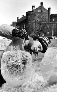 Hoofer's Winter Carnival ice sculpture contest