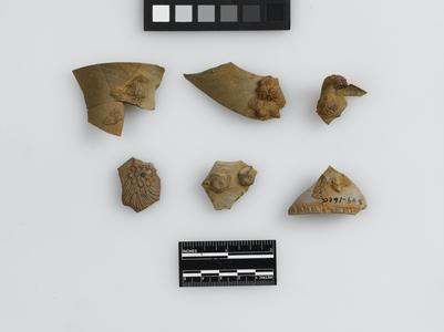 Fragments with sprig-molded decoration