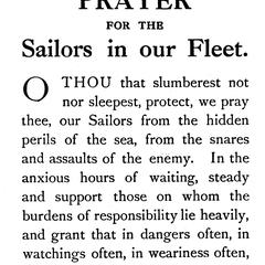 Prayer for the sailors in our fleet