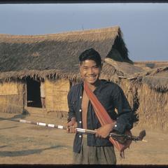 Hmong (Meo) with rifle