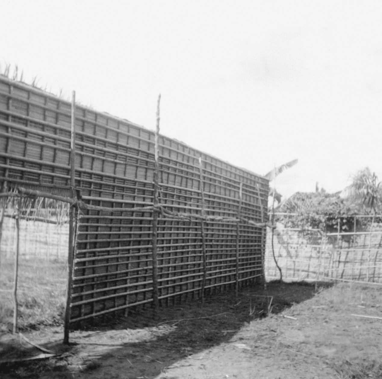 Placement of Prefab Wall for Kuba-Bushong Guardhouse