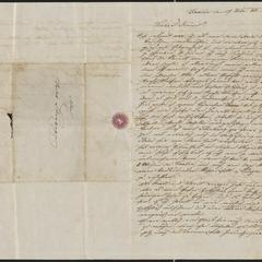 [Letter from Roth to Jakob Sternberger, February 17, 1852]
