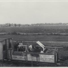 Naval guns on railway car, Manila-Dagupan, 1899
