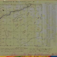 [Public Land Survey System map: Wisconsin Township 38 North, Range 06 West]