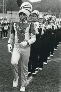 Marching band drum major