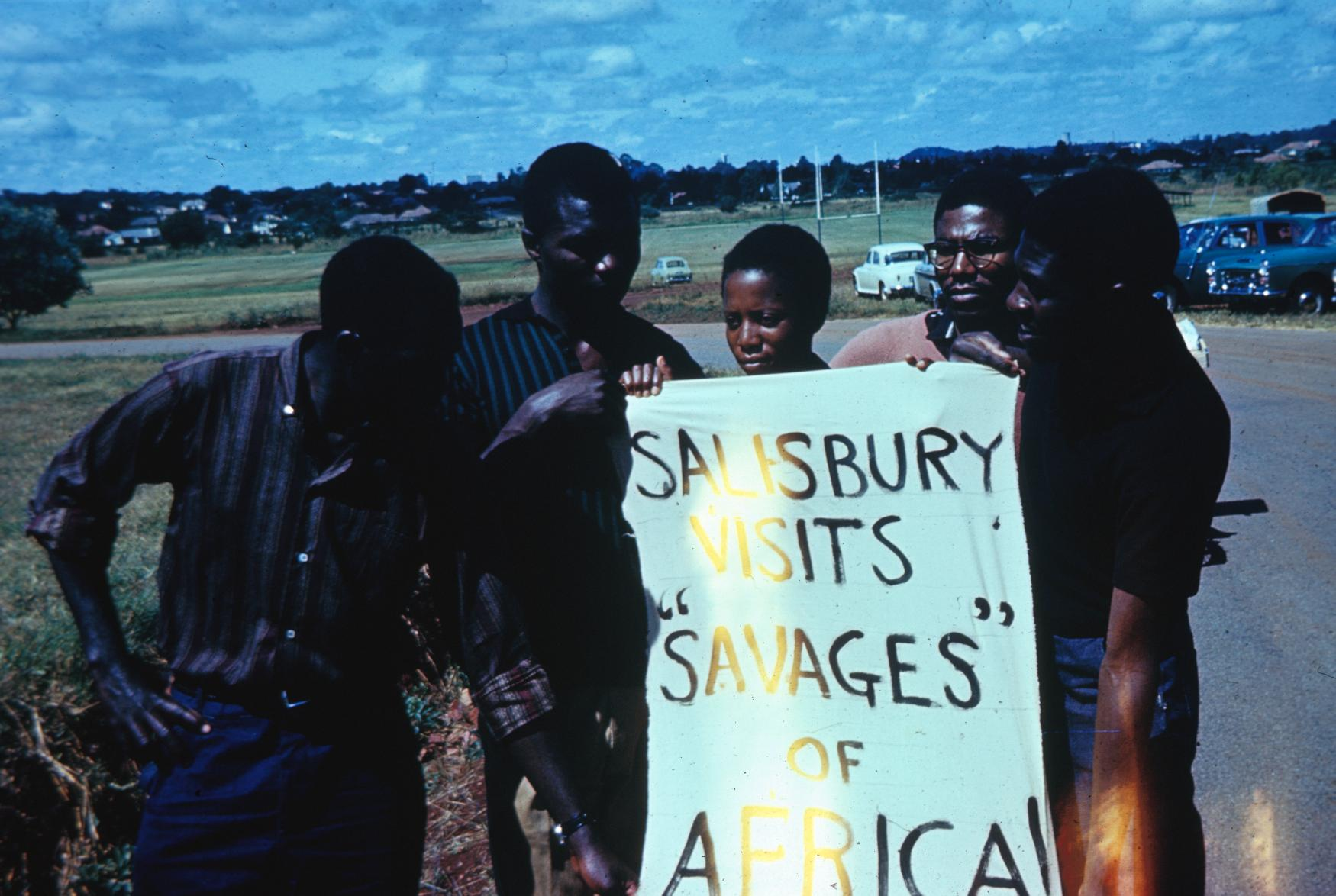"""African University Students """"Welcome"""" Lord Salisbury of Britain"""