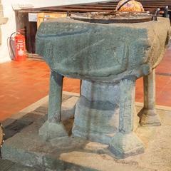 Tintagel St Materiana baptismal font