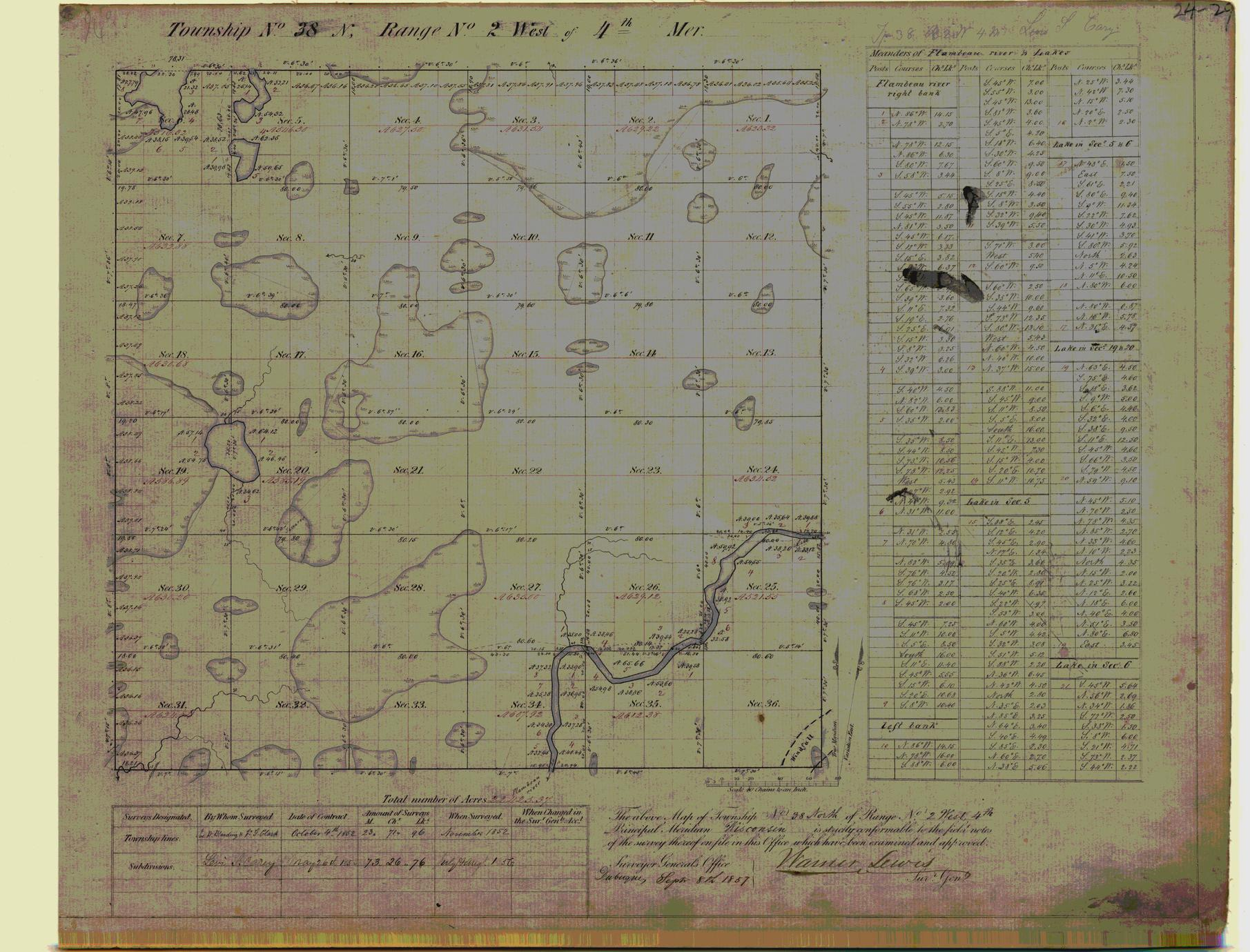 [Public Land Survey System map: Wisconsin Township 38 North, Range 02 West]