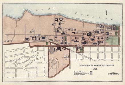 University of Wisconsin Campus Map, 1926