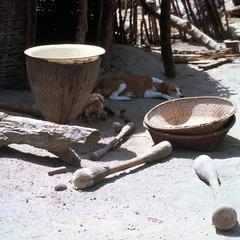 Tools and Baskets Used to Pound and Winnow Grain