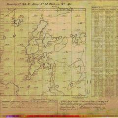 [Public Land Survey System map: Wisconsin Township 43 North, Range 12 West]