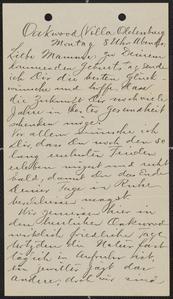 [Letter from Julia Sternberger Ruedebusch to her mother, Franziska Sternberger, June 25, 1917]