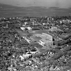 Aerial UW-Madison, ca. 1930s-1940s