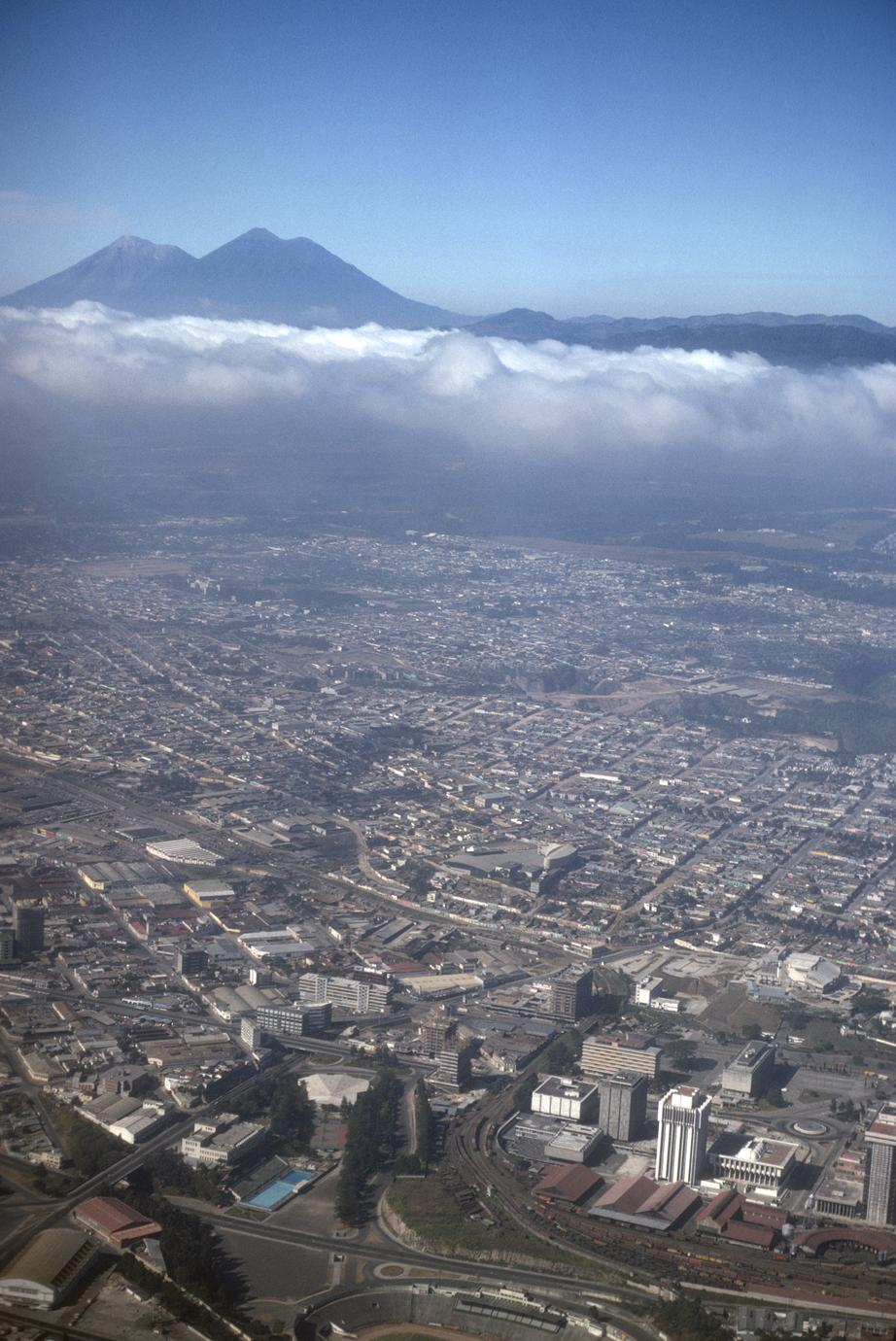 Guatemala City. Puebla down below