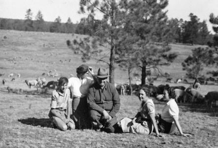 Carl Leopold with Bergere Family in New Mexico