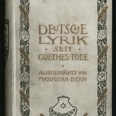 Deutsche Lyrik seit Goethes Tode bis auf unsere Tage