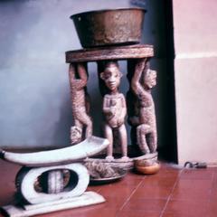 Replica of Ashanti King's Stool in Art Museum in Kumasi