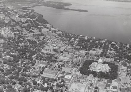 Residence halls aerial view