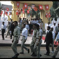 Officials leaving ceremony