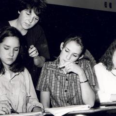 Joan Bowser with students