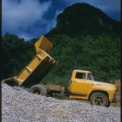 Pick-up gravel truck, United States Operations Mission (USOM) project