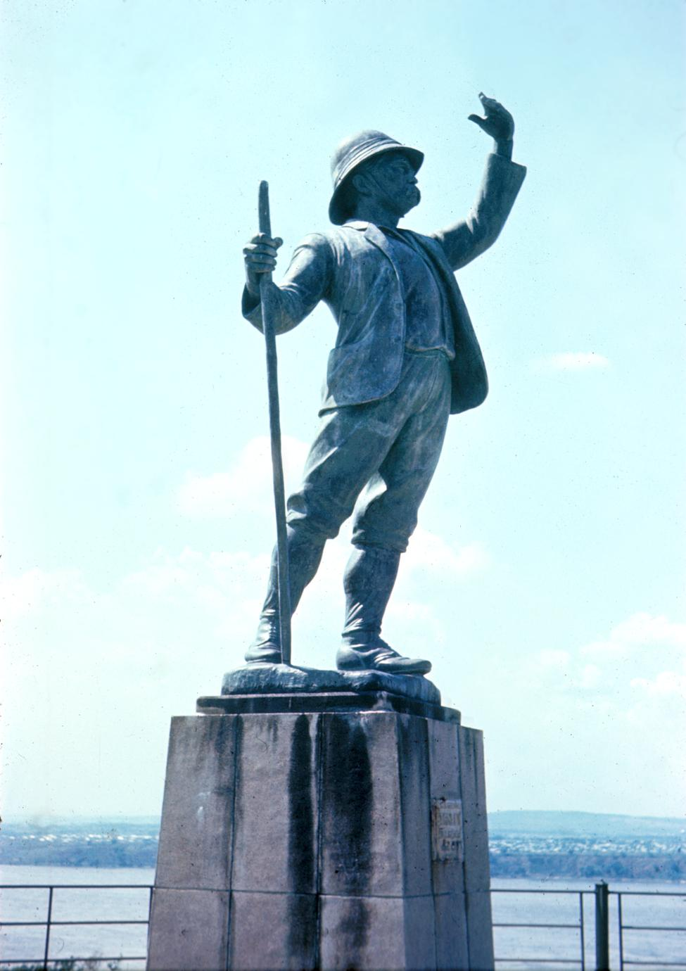 Statue of Henry Morgan Stanley, Late 19th Century Explorer Sent by King Leopold II of Belgium