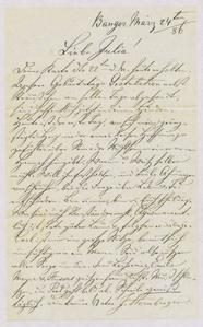 [Letter from Jakob Sternberger to his daughter, Julia, March 24, 1886]