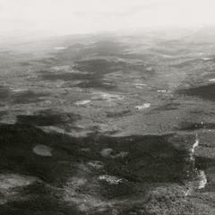 Aerial view of the southern region of the Boloven Plateau in Attapu Province