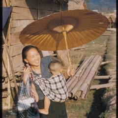 Lao woman and child in Muang Xay